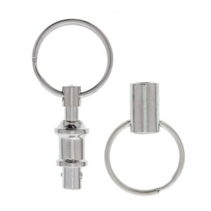 Quick Release smidig nyckelring i metall 2-pack