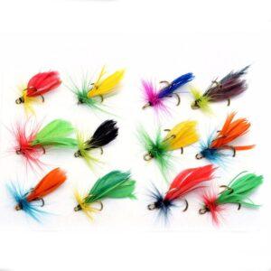12-pack med fiskeflugor