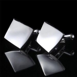 Manschettknappar - Kvadratisk i silver