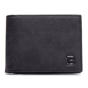 Mjuk smidig plånbok med myntfack – Svart