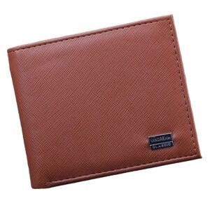 Plånbok i PU-material - Svart / Brun