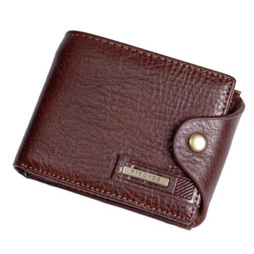 Klassisk plånbok med knäppning - Svart