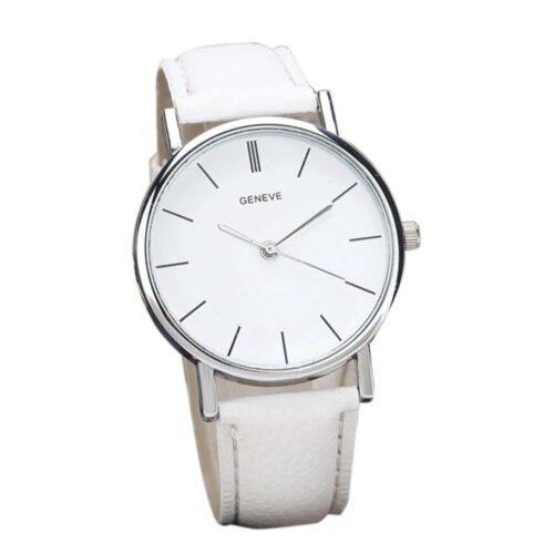 Enkel klocka i silver och svart armband