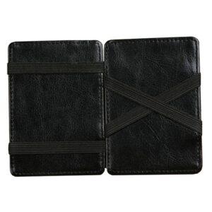 Magic Wallet korthållare i konstläder - Svart