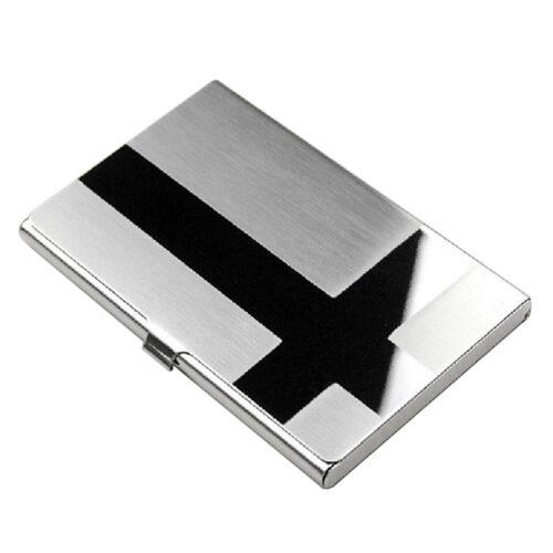 """Slimmad korthållare i rostfritt stål """"Crossroads"""" - Silver"""