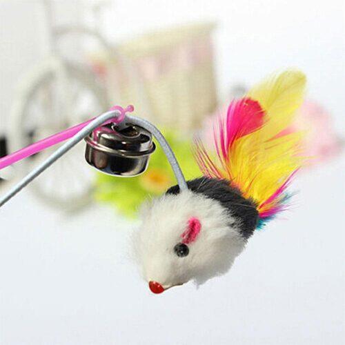 Kattleksak - Spö med mus och bjällra