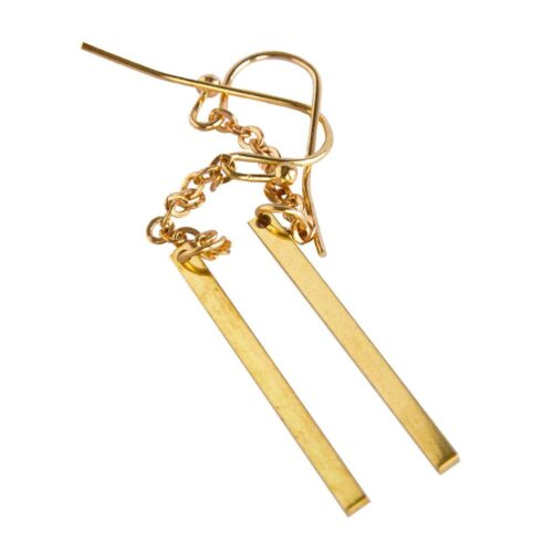 Örhängen - Stilren stav i guld