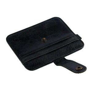 Smidig korthållare med knäppe - svart/blå