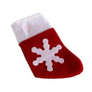 Bestickficka julstrumpa i rött 6-pack