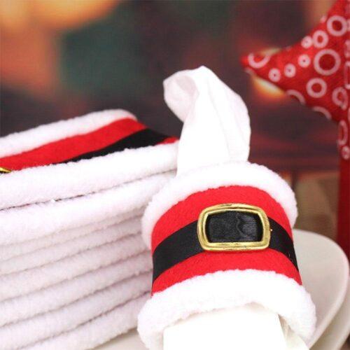 Servetthållare tomte / jul 4-pack