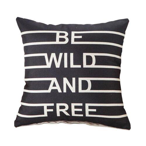 """Kuddfodral linne abstrakt """"Wild and Free"""""""