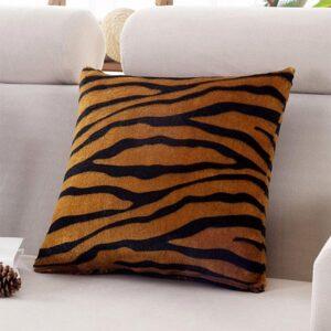 Kuddfodral lurvigt tigermönstrad