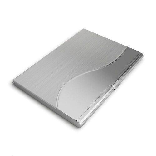 """Slimmad korthållare i rostfritt stål """"Wave"""" - Silver"""