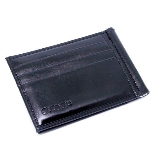 Korthållare med money clip och fönsterfack - Svart