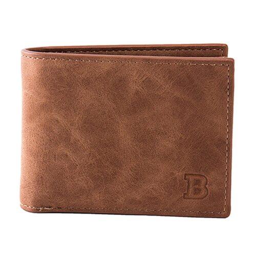 Mjuk smidig plånbok med myntfack - Brun