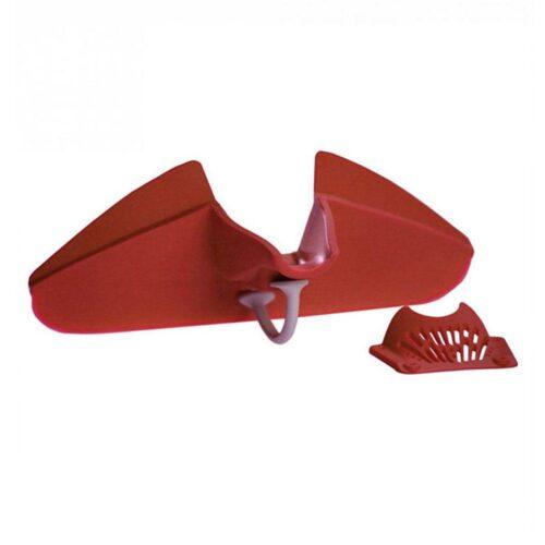 Praktisk avhällningsmunstycke / sil för kastruller och skålar