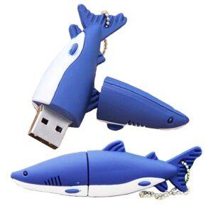 USB-minne 16 GB - Blå fisk