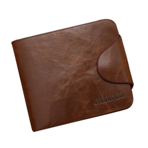 Annorlunda plånbok m knäppning - Brun