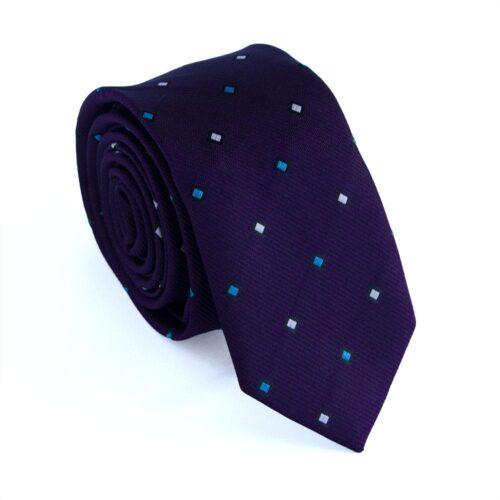 "Smal slips mörklila m flerfärgade rutor ""Darius"""