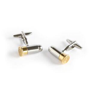 Manschettknappar - Pistolkulor i silver och guld
