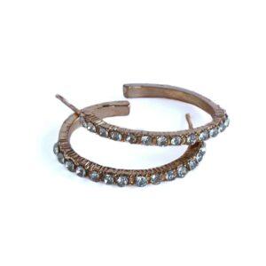 Örhängen - Ringar i guld med strass
