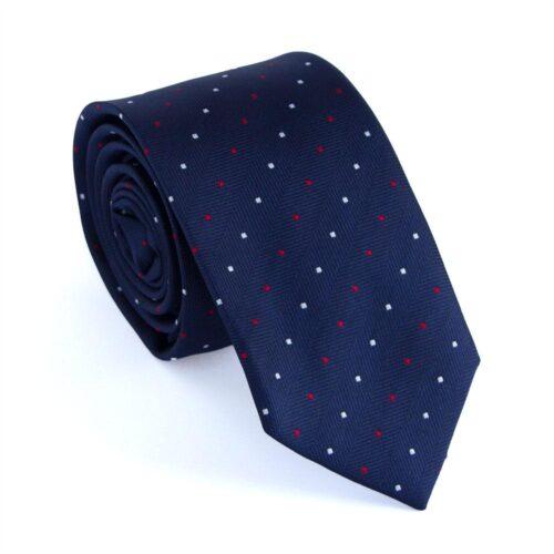 """Smal slips blå m flerfärgade prickar """"Charlie"""""""