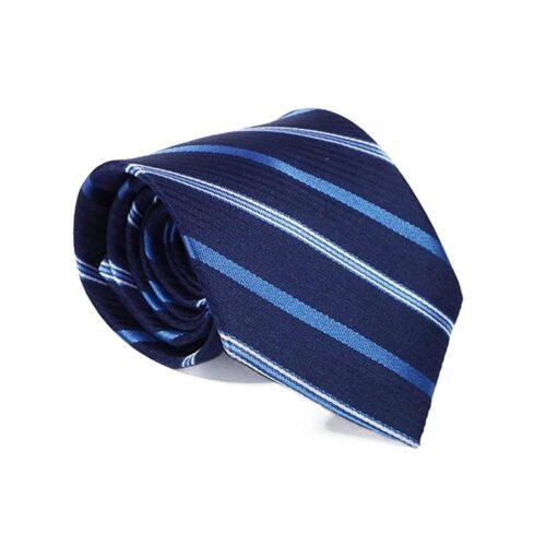 Slips - Mörkblå med diagonala ränder