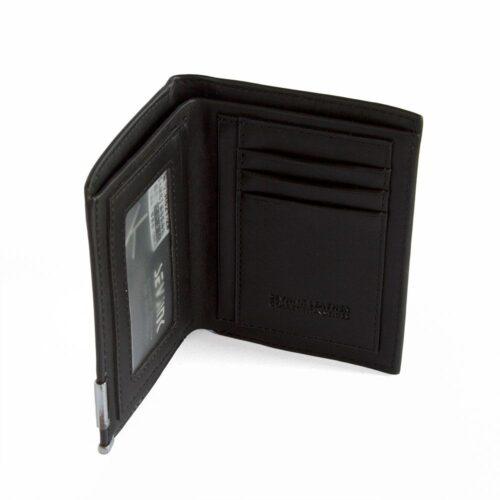 Elegant plånbok i äkta läder - svart