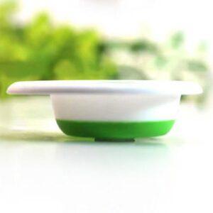 Hopfällbar tratt i silikon - Röd eller grön