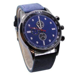 Rejäl klocka med annorlunda läderarmband - Olika färger