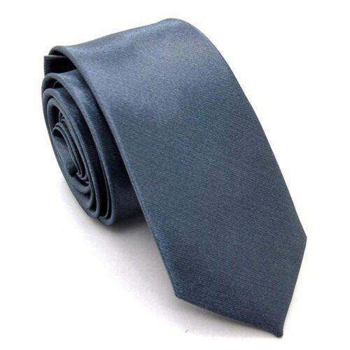 Smal / slimmad modern slips - mörkt silvergrå
