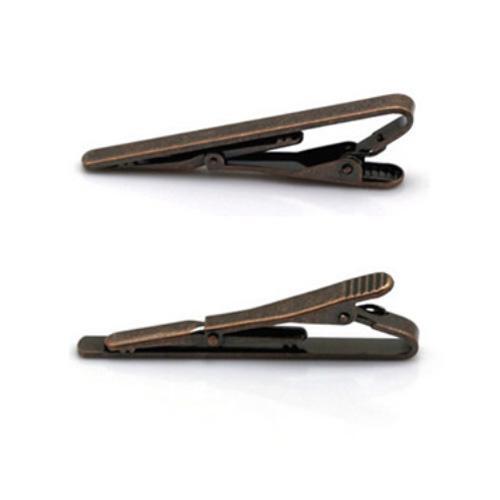 Slipsnål / slipsklämma - patina / brun