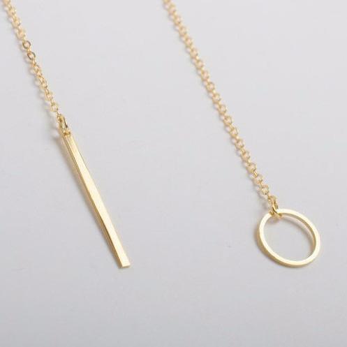 Elegant halsband guld - ring och tapp