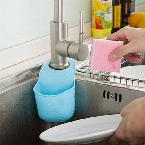 Hängande förvaring i silikon till badrum / kök
