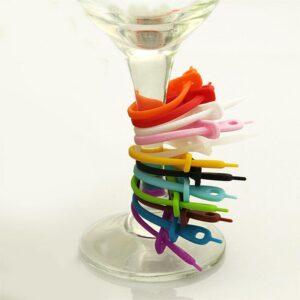 Glasmarkörer för festen - Band i 12 färger
