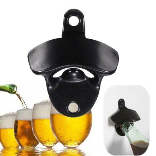Väggfast flasköppnare / kapsylöppnare i metall - Flera färger