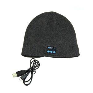 Bluetooth mössa m trådlösa hörlurar - Svart / Grå