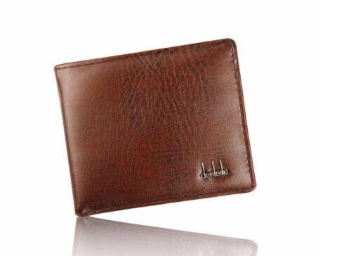 Enkel brun plånbok i konstläder