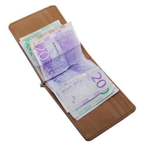Money Clip / Korthållare - Svart / Brun