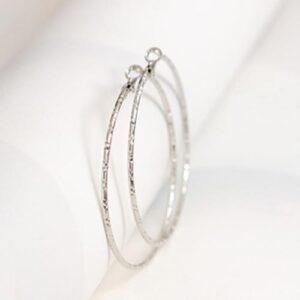 Örhängen - Stora ringar i silver 6 cm