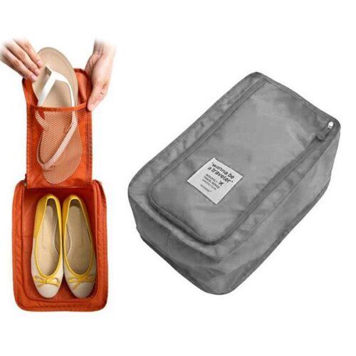Skorförvaringsväska i nylon - grå