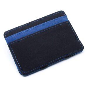 Magic Wallet korthållare i konstläder Svart / Blå Mocka