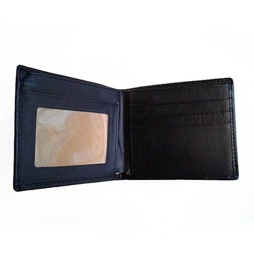 Enkel svart plånbok i konstläder