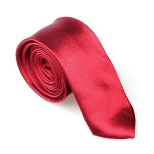 Smal / slimmad modern slips - vinröd