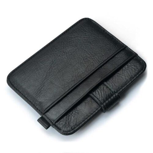 Smidig korthållare med knäppe - svart