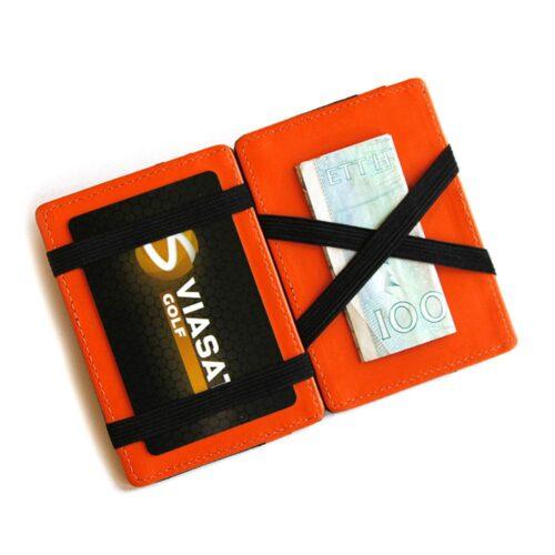 Magic Wallet korthållare i konstläder Svart / Orange
