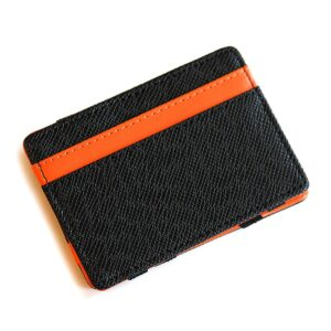 Magic Wallet korthållare i konstläder Svart / Orange