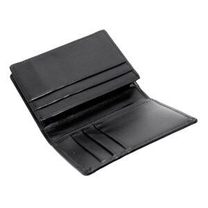 Stilren kortplånbok i slätt svart läder
