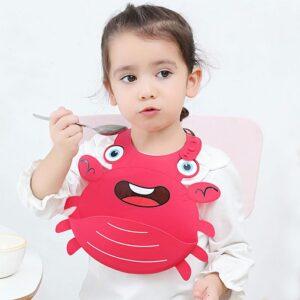 Haklapp i tålig silikon - Krabba röd