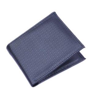 Plånbok i konstläder med mönster - Svart